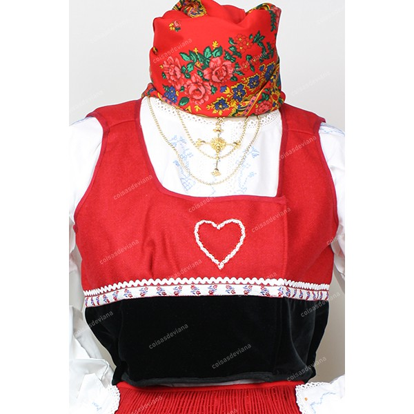 VEST WITHOUT EMBROIDERY FOR SUNDAY COSTUME