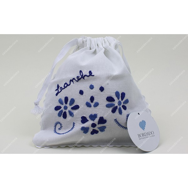 SNACK BAG COTTON VIANA EMBROIDERY