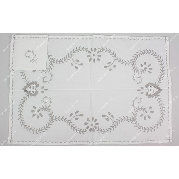 INDIVIDUAL IN COTTON VIANA EMBROIDERY
