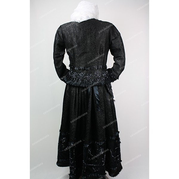 SKIRT FINE BROCADE AND VELVET WITH GLASS EMBROIDERY