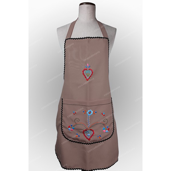 ENTIRE APRON IN COTTON VIANA EMBROIDERY